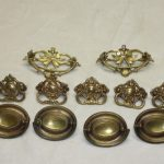 ANTIQUE BRASS DRAWER PULLS GREAT CONDITION MUST SEE