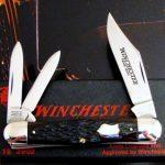 Winchester USA Split Backspring Whittler Knife 1990 Has Antique Utica Bone