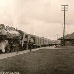 ANTIQUE Photo STEAM ENGINE Train Railroad DEPOT Pendleton Oregon 1920s RPPC
