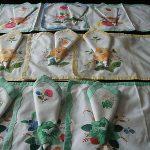 Vintage Cotton  Napkins and Table Mats Aplique x 9   Summertime Party Time