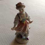 Antique Capodimonte Figurine With The Crown & N Mark On Bottom. Ex. Cond.