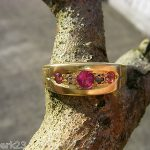 Antique Victorian 15ct Gold Ruby and Diamond Ring