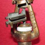 Antique 1906 Manufacturers Brass  Fire Sprinkler Head Patented 5 /19/ 1896