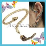 Vintage Antique Cool Gothic Temptation Ear Cuff Stud Earring Snake Bronze/Silver