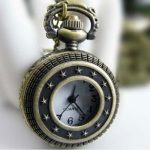 188% FREE SHIP Antique Archaize Pocket Watch Necklace