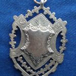 A Large Heavy Antique Fully English Hallmarked Silver Double Sided Fob 17g