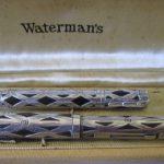 ANTIQUE WATERMAN STERLING SILVER FOUNTAIN PEN & PENCIL SET ORIGINAL BOX/ PAPER