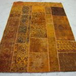 Authentic Hand Knotted PATCHWORK Carpet Oriental Area Rug 4×6 FT Free Shipping