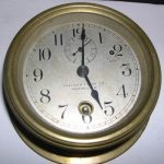 Fine Antique Signed Chelsea Brass Ship's Clock ails 2,150