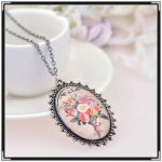 Hot  vintage flower antique brass ro fashion jewelry silver necklace chain