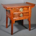 Antique 1819C. Chinese Huanghuali Alter Coffer Table