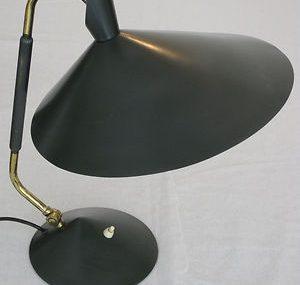 STILNOVO desk light 1950s  witch's hat  table lamp ITALY mid century