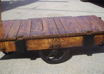 Vintage Railroad/Industrial Cart Coffee Table
