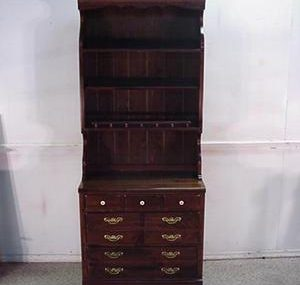 16920 Ethan Allen Solid Pine Bookcase Chest