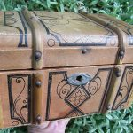 Antique Fashion Doll Troussau Trunk Luggage French German 6 1/2″ No Reserve
