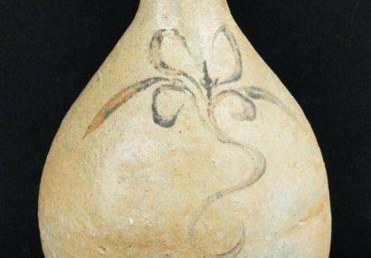 Antique Asian 1516th C. Korean Joseon Dynasty Floral Design Bottle Form Vase