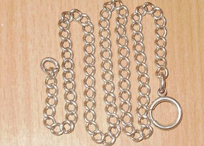 ANTIQUE ENGLISH STERLING SILVER CURB CHAIN  ALL LINKS STAMPED  23.3 GRAMS