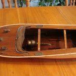 Vintage old  Antique Wooden Toy Model Boat  Fixer upper or parts