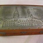 Antique Warszawa Silver Jewlery Trinket Wood Box  Beautiful  Take a