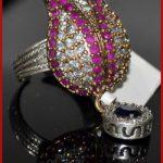 0.99  LOTUS FLOWER ANTIQUE TURKISH GEMSTONE RING FOR WEDDING/ENGAGEMENT