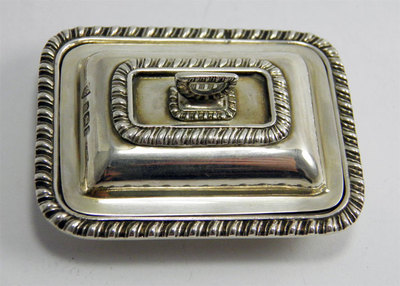FINE ANTIQUE HM STERLING SILVER MINIATURE ENTREE SERVING DISH 1903