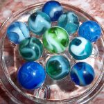 Lot Of 11 Vintage Jackson Agate Assorted Color Transparent Swirl Style Marbles