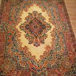 vintage shahi persian 100 % wool large area rug