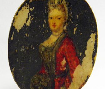 FINE EARLY ANTIQUE GEORGIAN PORTRAIT MINIATURE PAINTING OF A LADY