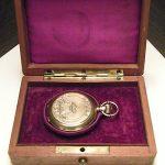 UNIDENTIFIED pocket watch Maiden Lane  18K Gold  antique  wood box  117008