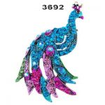 FREE Blue Peacock Brooch Pin 6036MM AB Color Rhinestone Crystal Antique Copper