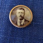 Theodore Roosevelt Celluloid Button President Campaign 1894  5/8″ dia. Antique