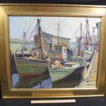 Antique Paul Goodridge Rockport School Gloucester Harbor Oil Painting