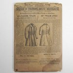 Antique 1870's Willie Apron Sewing Pattern Mme. Demorest #587 Boys Age 4