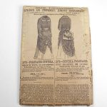 Antique 1870's Cynthia Polonaise Sewing Pattern Mme. Demorest #1572 Size 14