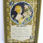"""Antique Picture1930 Art Pub Co""""My Mother""""wood frame"""