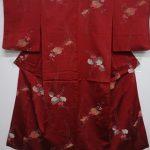 35605# Japanese KIMONO SILK / ANTIQUE OMESHI KIMONO / WOVEN KIRI