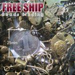 50g vintage antique brass bronze mixs pendant spacer end caps wholesale SC0001