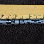 Antique Watermans Ideal Eyedropper 12 with Sterling silver overlay