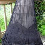 Beautiful Antique Late Victorian Edwardian Black Lace Skirt 1903 Sz Free (XSXL)