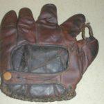 Old Baseball Glove, Antique Leather Vintage 1920s