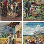 8 Antique Lords Prayer Greeting Postcards   (Lot #A383)