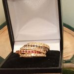 vtg antique natural diamond 18ct gold ruby opening ro puzzel ring deco