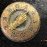 antique WHIST MARKER bridge CARD GAMES SCORE BRASS POINTING Hand