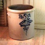Antique Stoare Pottery Decorated Bird Salt Glaze 3 Gallon Crock
