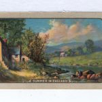 """Single Playing Card Antique Vintage English Named """"Summer In England"""" SU 31 A"""