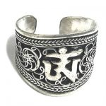 Wonderful Antique style, Adjustable Tibet Silver Filigree Amulet luck Ring
