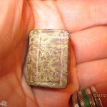 Antique  Hand Carved Miniature Stone Catlinite Marble Book bible 1863