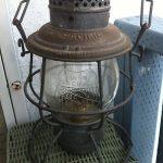 Antique Adlake Railroad LanternNY, Chicago, Phil. Mint w/original glass globe