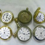 Lot of 6 Pocket Watches  Incl. Illinois, Westclox, & More  Parts/Pieces #101B
