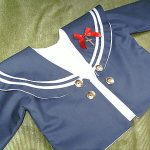 Navy cotton sailor coat for large antique bear